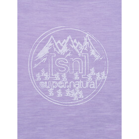 super.natural Printed T-shirt Femme, wisteria melange/fresh white backdrop